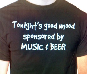 music and beer shirt